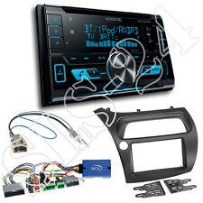 Honda Civic VIII ab2006 2-DIN Blende+Lenkrad Adapter+ Kenwood DPX5000BT Radio