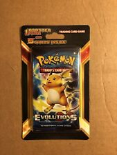 Pokemon Evolutions XY Booster Pack Plus 5 Cards Blister (RAICHU) New Sealed