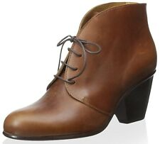 COCLICO SHOES DANE LACE UP BOOTIES BROWN LEATHER ANKLE BOOT NEW 37.5