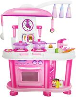 Große Spielküche gemüse Spielzeugküche kindergeschirr mädchen Spielzeug pink neu