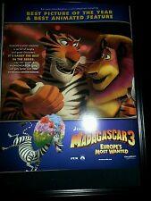 Madagascar 3 Rare Original Academy Awards Promo Poster Ad Framed!