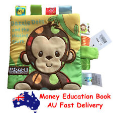 Animal Monkey Story Book Baby Toddler Interactive Education Soft Cloth Book