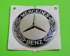 original Mercedes Benz Stern Emblem Zeichen Aufkleber Zeichen Kranz blau Chrom