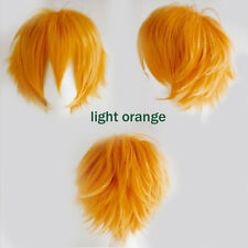 Hot Anime Wig Short Straight Hair Cosplay Heat Resistant Wigs Fashion Unisex #4b