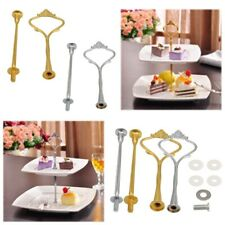 2/3 Tier Hardware Crown Metal Cupcake Cake Plate Stand Handle Fitting Party