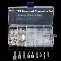 270pcs Set di Crimpare Terminali Connettori Elettrici Cavo Isolato 2.8/4.8/6.3mm