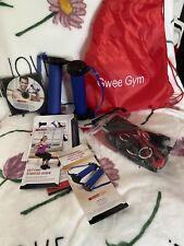 EUC Gwee Gym Resistance Workout Kit w/ Travel Bag & Assessories - Blue