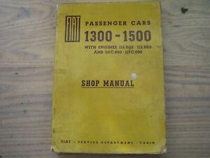 Fiat,1500/1300, Factory, Workshop, Manual/131/132/127/124/ Handbook/Parts