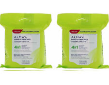 2 x Almay Clear Complexion 4-in-1 Makeup Remover Purifying Towelettes 25 each
