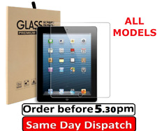 "100% TEMPERED GLASS SCREEN PROTECTOR FITS APPLE IPAD 4/5 MINI 2/3/4 AIR 9.7"" 11"""