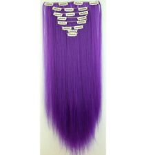 100% Natural Clip in Hair Extensions 8 Pieces Full Head AS Human Hair 17-26 Inch