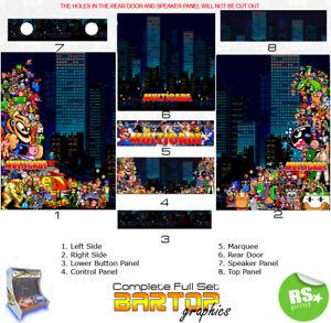 Multicade Full/Half Sets Arcade Artwork  Arcade Graphics Stickers All sizes