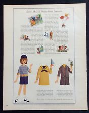 Vintage Betsy McCall Mag. Paper Doll, Betsy Writes from Bermuda , April 1965