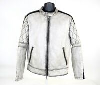 Wilsons Leather Mens M Vintage Motorcycle Jacket Diamond Stitched Dragon Back