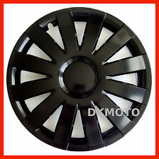 "4x15"" Wheel trims for VW Passat Caddy Golf Transporter T4 T5 - BLACK MATT FINISH"