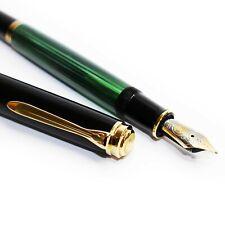 More details for pelikan souveran m800 fountain pen | black / green(fine) – excellent condition