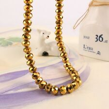 10mm Faceted Crystal beads Cuboid Gold plated Beads Bracelet Making 72pcs/lot