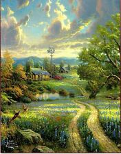 "Thomas Kinkade ""Country Living"" Boxless 100pc Puzzle Farm Pond Floral *NEW*"