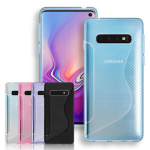Clear TPU Silicone Gel Phone Case Cover For Samsung S10 S9 S8 S7 S6 S5 S4 S3