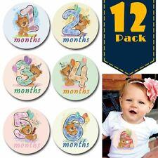 0-12 Months Baby Monthly Stickers Pregnant Newborn Milestone Memorial Card Decor