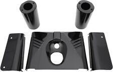 Black Fork Tins Set 5 Piece Front Side Slider f Harley Fatboy Heritage Softail