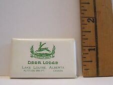 VINTAGE DEER LODGE ALBERTA CANADA PALMOLIVE GOLD ADVERTISING BAR OF GUEST SOAP