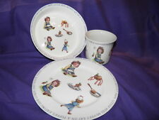 Queens China Miss Muffet Dish Set Plate Bowl Cup Nursery Children's Baby Gift