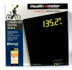 Health O Meter NUYU Connected Digital Scale Saves Weight To App Tempered Glass