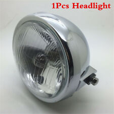 1Pcs 6''Motorcycle Side Mount Round 12V Headlight Amber Light High/Low Beam Lamp