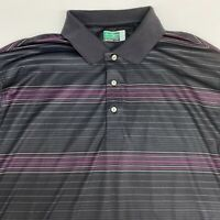 Ben Hogan Performance Polo Shirt Men's 2XL Short Sleeve Black Purple Polyester