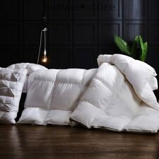 Satin Cotton Quilt Goose Down Duvet King Queen Full Size Hotel Thick Blanket Hot
