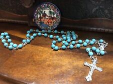Jerusalem Rosary Blessed Church of Holy Sepulchre 2016 Blue Turquoised look