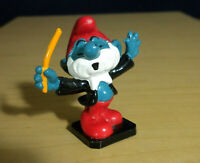 Smurfs 20092 Conductor Papa Smurf Band Figurine Vintage PVC Toy 80s Figure Bully