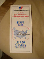 United Airlines - City Timetable - San Francisco, Oakland, San Jose