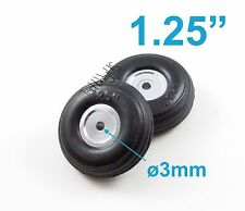 "1Pair of 1.25"" Light Weight RC Plane PU Wheels, Aluminum Alloy Hub, US 006-04002"