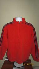 L Adidas 1/2 Half 1/4 Zip Mock Neck Orange Blue Casual Sweater Shirt Jacket