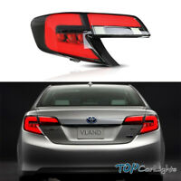 VLAND Smoked Lens Built-In LED W/ Tail lights  For 2012-2014 Toyota Camry Sedan