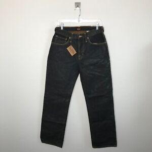 New Von Dutch Mens Size 30 X 32 Jeans 100% Cotton Straight Leg Dark Denim Blue