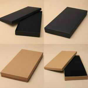 LETTER TICKET GIFT BOXES JEWELLERY SETS PRESENT BOX BLACK NATURAL BROWN DL SIZE