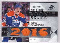 2016-17 SP Game Used Rookie Relic Blends #RRBJP Jesse Puljujarvi Jersey 65/199