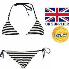 Bikini Swimsuit 2pc Beach Set Ladies Miso Summer Holiday Pool Navy Stripe 2017
