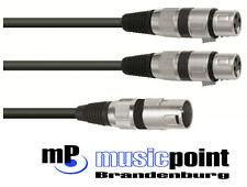 Y-cable cable xmmf 1,5m 1 x XLR male en 2 x XLR female Omnitronic cable de audio