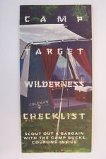 Camp Target Wilderness Checklist Brochure Vintage