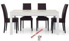 TABLES&CHAIRS tavolo pranzo bianco legno frassinato rettangola allungabile 551