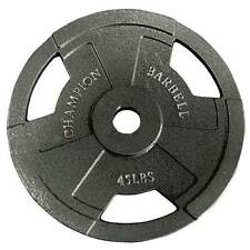Champion Barbell Olympic Grip Weight Plates 45 lb, 35 lb - FREE SHIPPING