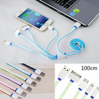4 in1 USB Multi Charger Chargind Cable For iPhone Samsumg HTC LG 1M