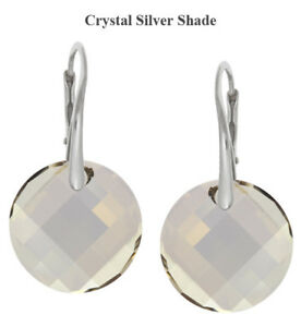 Sterling Silver Earrings made with 6621 Twist 18mm Swarovski® Crystals