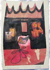 Sergio DANGELO (Milano 1932) UN SOGNO ARMENO cm 30x21 opera STORICA anno 1967