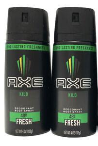 2 X Axe Kilo Deodorant Body Spray Fresh 48H 4 oz NEW Lot of 2