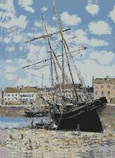 "Monet Ship Aground Counted Cross Stitch Kit 12"" x 16"""